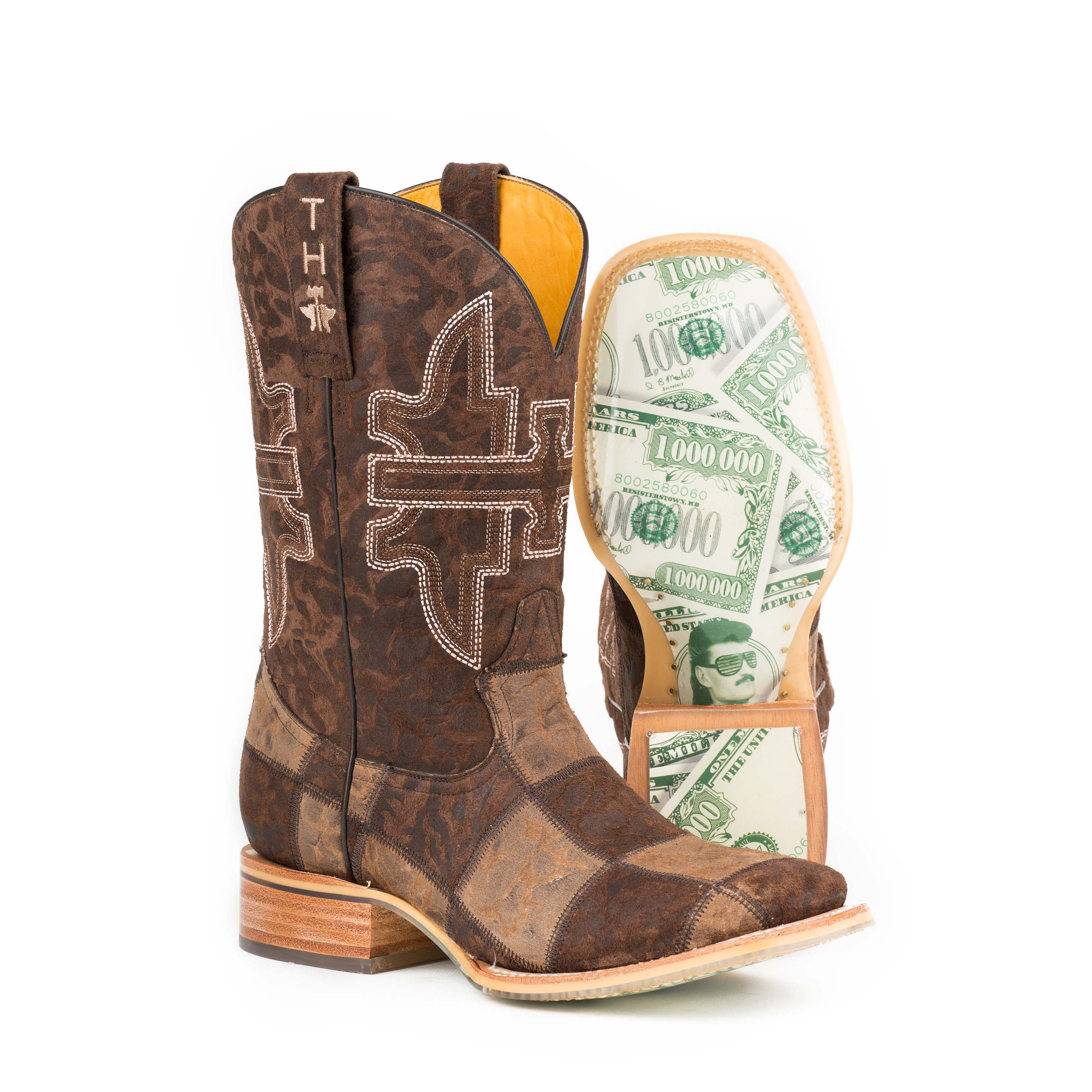 Mens Tin Haul Shoes Men's Million Dollar Check Western Boot Offer Size 45