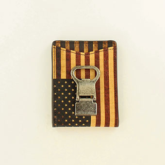 Nocona USA Leather Money Clip