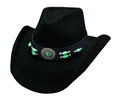 Bullhide Jewel Of The West Felt Hat - Black