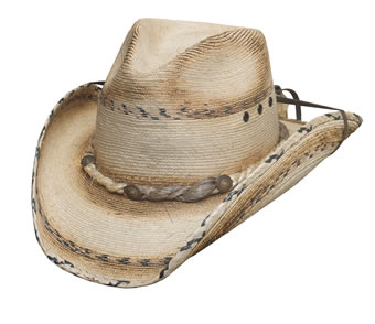 Bullhide Running Iron 15X Straw Hat