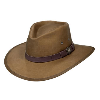 Outback Oilskin Kodiak Hat - Field Tan