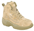 Reebok Men's Desert Tan 6 Military Boots w/Composite Toe & Side Zip