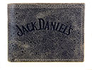 Jack Daniel's Charcoal Distressed Leather Billfold