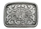 Stetson� Unisex Floral Design Belt Buckle