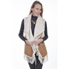 Scully Ladies Faux Fur Vest w/Fringe - Tan