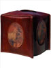 Scully Leather Tissue Holder w/Vintage Western Print