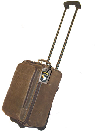 Scully Aerosquadron Collection Walnut Antique Lamb Wheeled Carry-On