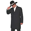 Men's WAH MAKER Wool Blend Frock Coat - Black