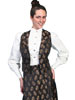 Ladies WAH MAKER Floral Jacquard Vest - Black