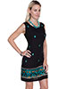 Scully Embroidered Shift Dress - Black