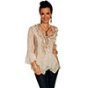 Scully Honey Creek  Lace & Ruffle Blouse - Natural