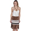 Scully Honey Creek Ladies Soft Fringe Skirt - Tan