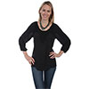 Scully Honey Creek Antique Crochet Tunic - Black