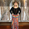 Scully Honey Creek Serape Maxi Skirt