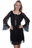 Scully Honey Creek Ladies Lace Dress - Black