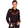 Scully Ladies Western Wave Pattern Embroidered Blouse