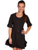Cantina Collection Ladies 3/4 Sleeve Dress - Black