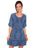 Cantina Collection Ladies 3/4 Sleeve Dress - Dark Blue