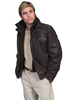 Scully Men's Frontier Leather Jacket w/Zip Out Knit Front - Brown