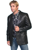 Scully Men's Italian Lamb Western Blazer - Black