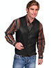 Scully Men's Hand Finished Lamb Western Vest Single Point - Black