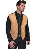 Scully Men's Boar Suede/Satin Back Vest - Bourbon