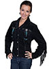 Scully Ladies Boar Suede Fringe & Beaded Jacket - Black