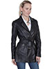 Scully Ladies Washed Lamb Coat - Black