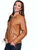 Scully Ladies Laced Sleeve Lamb Jacket - Saddle Tan