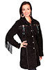 Scully Ladies 3/4 Length Boar Suede Coat - Black