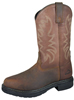 Smoky Mountain Men's Buffalo Work Boot - Dark Brown Steel Toe