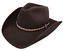 Stetson Rawhide 3X Buffalo Fur Hat - Black