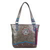 Catchfly Cece Lush Pewter Concealed Carry Tote Bag