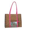 Catchfly Arianna Tote Bag - Brown/Pink