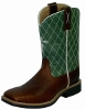 Twisted X Children's Cowkid Work NWS Toe Cowboy Boots - Cognac/Lime
