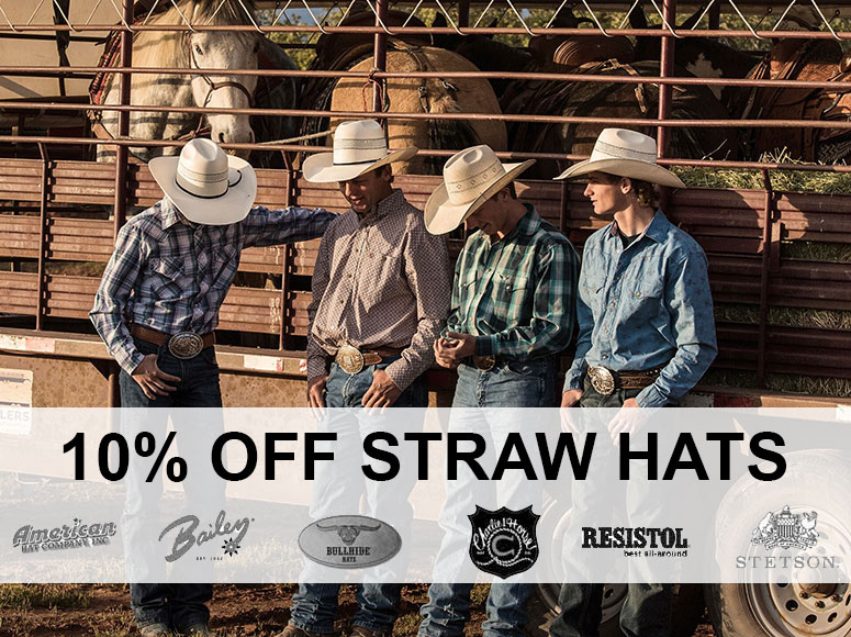 10% OFF Straw Hats!