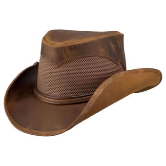 Double G Durango Leather/Nylon Mesh Cowboy Hat - Copper