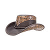 Double G Falcon Leather Cowboy Hat - Brown