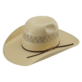 American Hat Co 15★ 1022 2X2 Two-Tone Vented Straw Hat - Wheat/Ivory