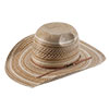 American Hat Co 20★ 1080 Two Tone Vented Straw Hat - Chocolate/Ivory