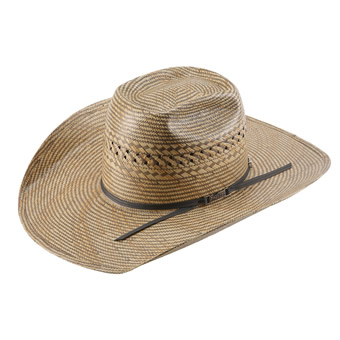 American Hat Co 20★ Fancy Vent Two-Tone Straw Hat - Wheat/Grey