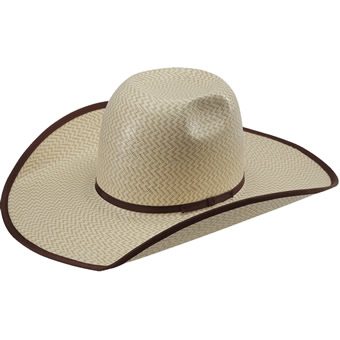 American Hat Co 15★ 3X3 Two-Tone Shantung Straw Hat
