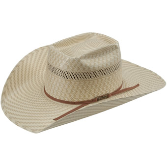 American Hat Co 15★ Swirl Vented Straw Hat - Tan/White