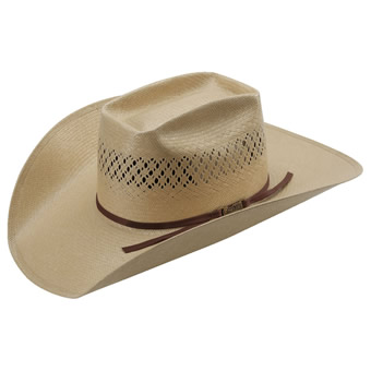 American Hat Co 20★ 7300 Fancy Vented Straw Hat - Tan