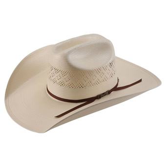 American Hat Co 20★ 8300 Fancy Vent Straw Hat - Ivory