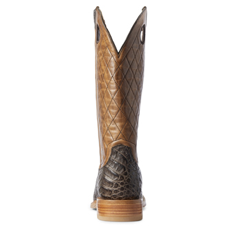 Ariat Men's Relentless Winner's Circle Caiman Belly Western Boots - Chocolate/Tough Maple #3