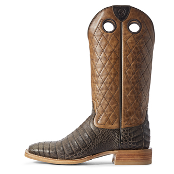 Ariat Men's Relentless Winner's Circle Caiman Belly Western Boots - Chocolate/Tough Maple #2