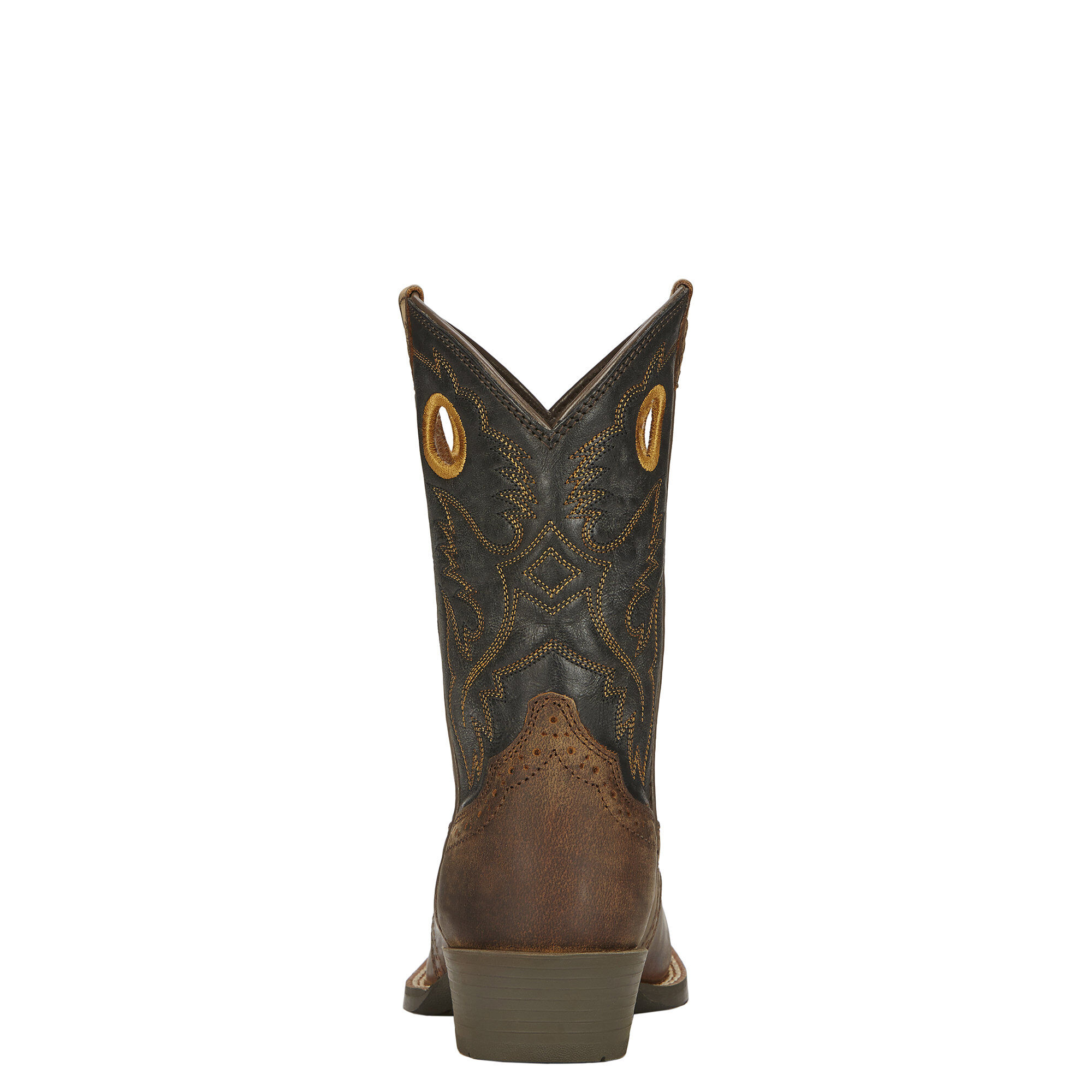 Ariat Childrens Heritage Roughstock Distressed Brown Cowboy Boots 10016239