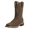 Ariat Men's Hybrid Rancher Waterproof Western Boots - Oily Distressed Brown