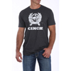 Cinch Men's S/S Tee Shirt - Heather Black